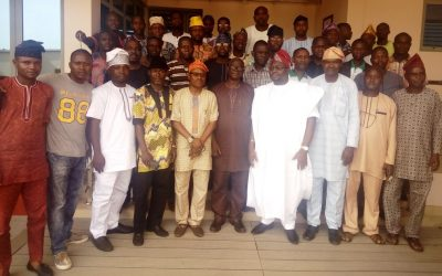 CHAIRMAN, SCHOOL GOVERNING BOARD, ADEBAYO ADELABU, HOSTS LAGSOBA NATIONAL EXECUTIVE COUNCIL MEMBERS
